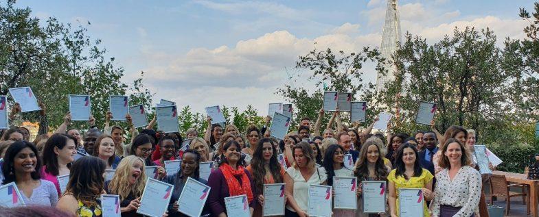PR Academy graduates with certificates