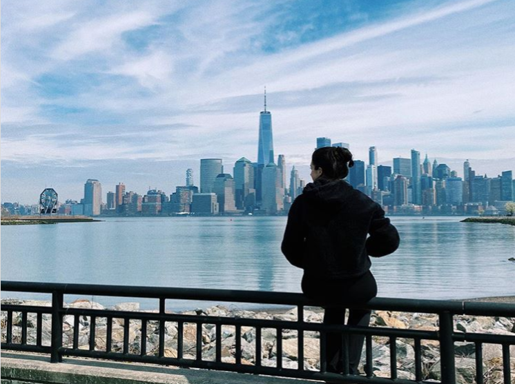 'The closest I get to Manhattan and my office these days' @orlaghclaire on Instagram