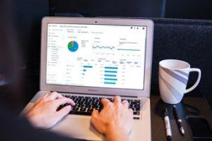 Traffic Analytics Report on Laptop