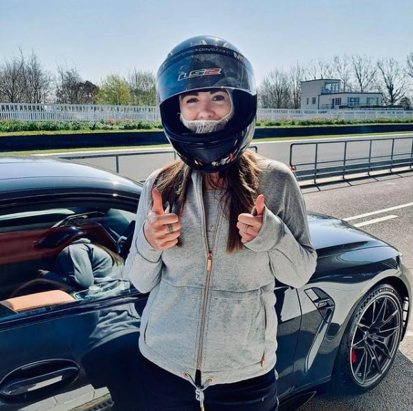 Another day spent wondering how this is my job...?! (and wondering if anyone looks good in PPE balaclavas?!) 🏎 #mediaday #goodwoodcircuit #goodwooddriveday #bmwm3 #bmwm4 @helenwilsonxx on Instagram