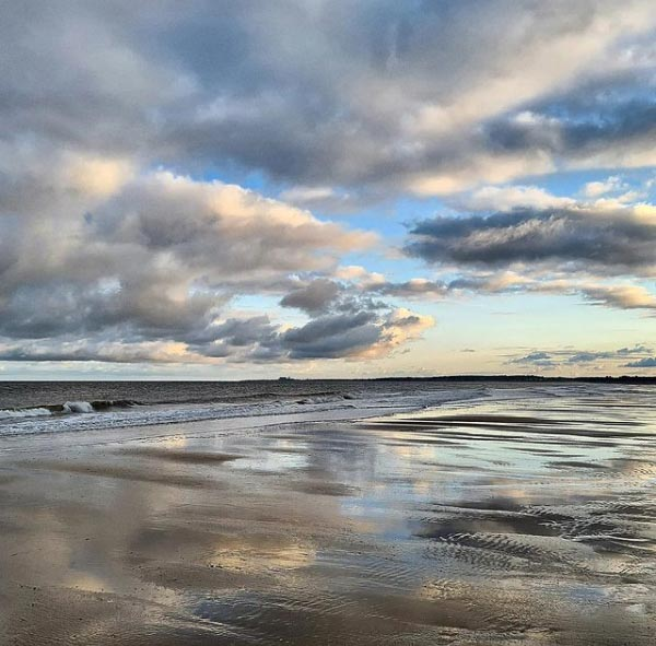 'On the beach at dusk tonight' @tonylangham on Instagram  #dusk #sundown #beach #northsea #walberswick #dunwich #suffolk