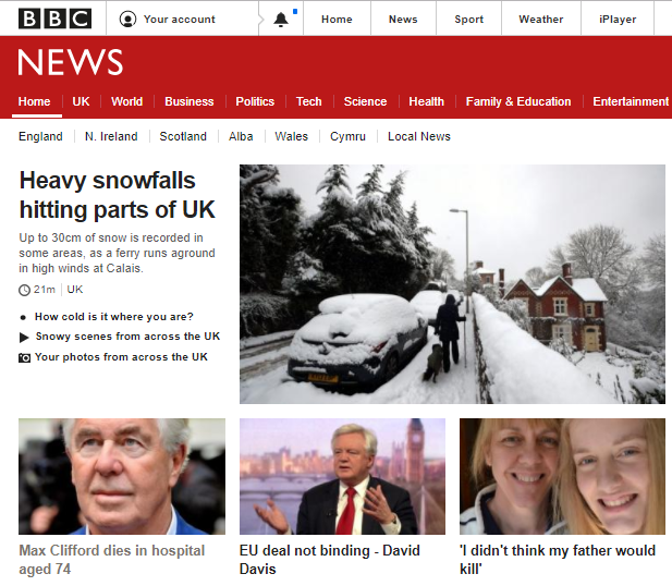 Making front page news to the end (BBC.co.uk)