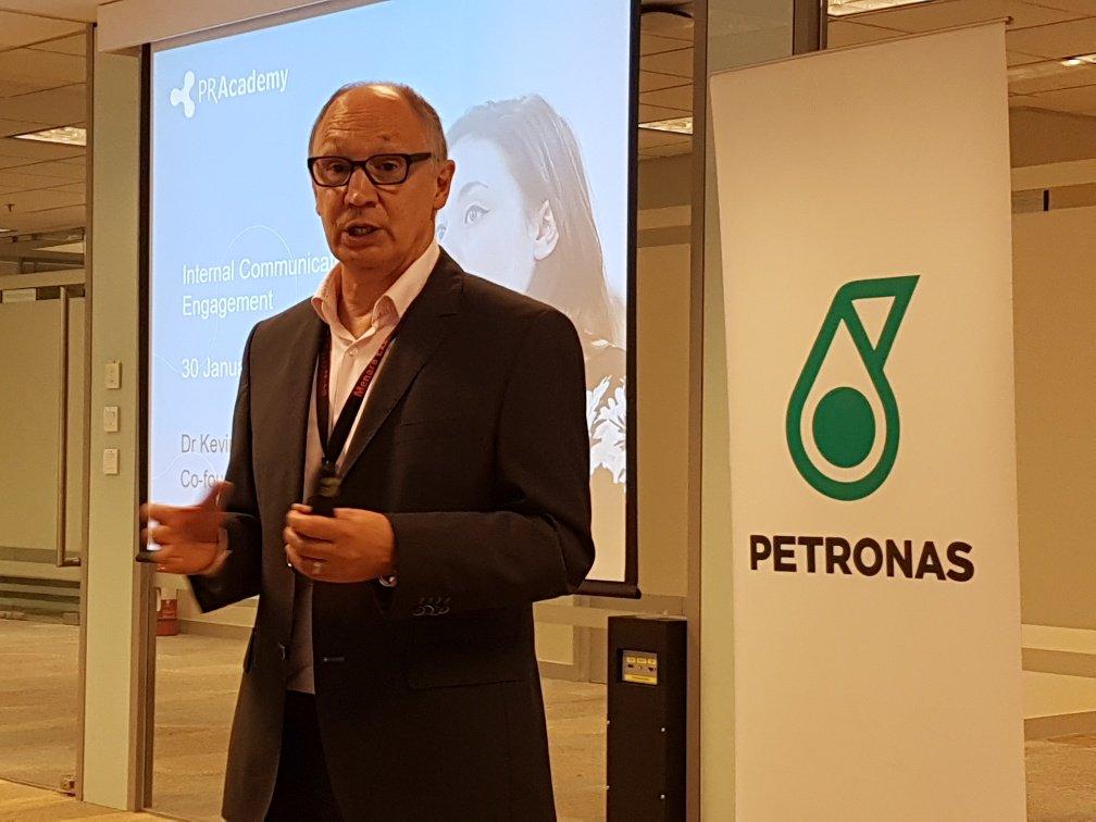 Kevin Ruck presenting at Petronas