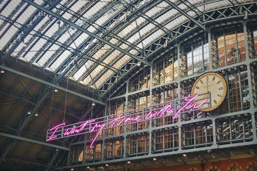 'I want my time with you' by Tracey Emin ?? (Danielle Higgins @danielle1610 on Instagram)