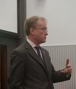 Strategic communicator: Alex Aiken speaking in Bristol