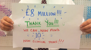 'Thank you - you're amazing' Cancer Research UK