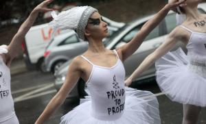 Amnesty International's ballerina protest