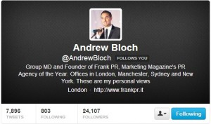 Andrew Bloch: Top Twitter talent