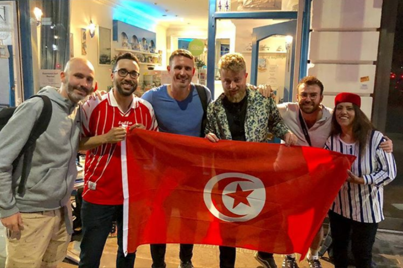 @Watchingwiththeworld London-based friends including PR graduate Adam Burns (second from right) have been watching the World Cup with fans of each nation at different locations in London.