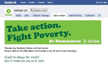 Oxfam Facebook Page