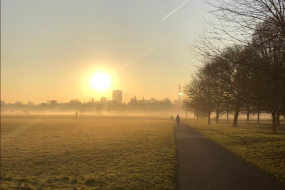 Regent's Park looking gorgeous this morning @marcelkl