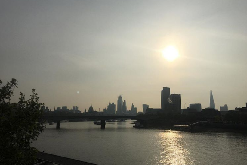 Sally Moore (@sally.bellwood): 'This is a smug photo of my morning run. Until I ran back to the wrong hotel... looking forward to #accountex today. Super proud to be there with the #sageuk team.'
