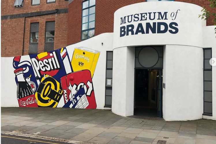 Nice piece of social/street trolling by the @museumofbrands - round the corner from @taylorherringuk HQ @itsjamesherring